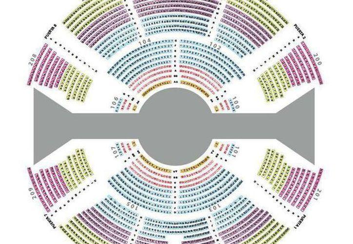 Así se distribuirán los espacios para el público en el Cirque du Soleil en Mérida. (Facebook Cortjeo by Cirque du Soleil)