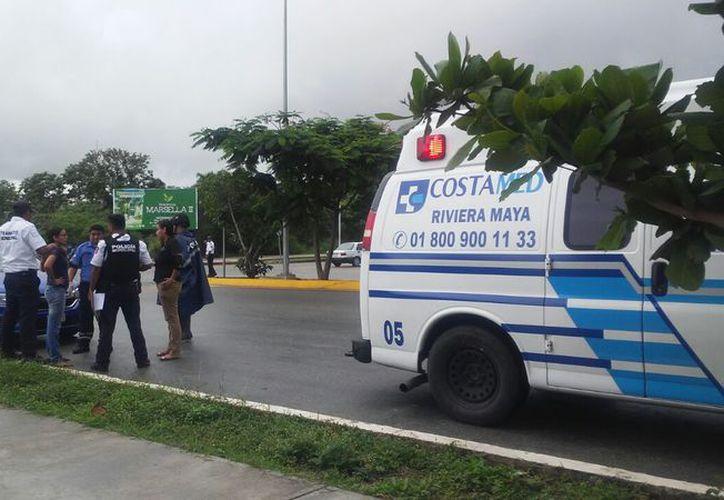"""Los hechos ocurrieron sobre la avenida Solidaridad, al no respetar el """"alto"""", en el cruce con la avenida Chemuyil. (SIPSE)"""