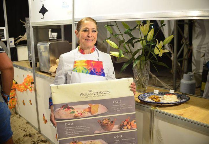 Pizza de langosta, camarones al coco, bombones de camarón, fueron platillos que se prepararon durante la muestra. (Foto: Karim Moisés)