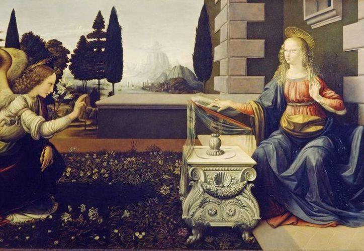 En el seminario se podrán conocer los distintos movimientos del Renacimiento Europeo. Como esta obra del pintor Leonardo Da Vinci llamada La Anunciación. (Imagen tomada de Internet)