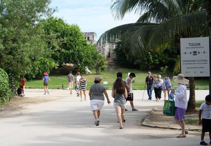 Disminuye la visita de turistas en la zona arqueológica. (Rossy López/SIPSE)