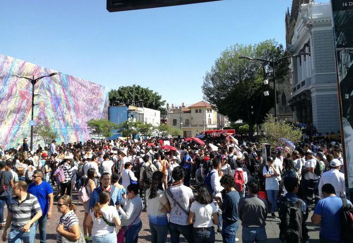 Los alumnos piden garantías de seguridad en #Jalisco. (Twitter)