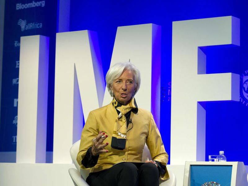 International Monetary Fund (IMF) Managing Director Christine Lagarde speaks at the panel Reforming the Euro Area. (Foto: AP).