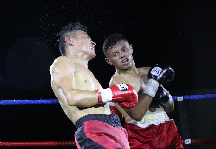 Manuel René Ortiz Martínez (derecha), una joven promesa del boxeo yucateco. (Foto: Novedades Yucatán)