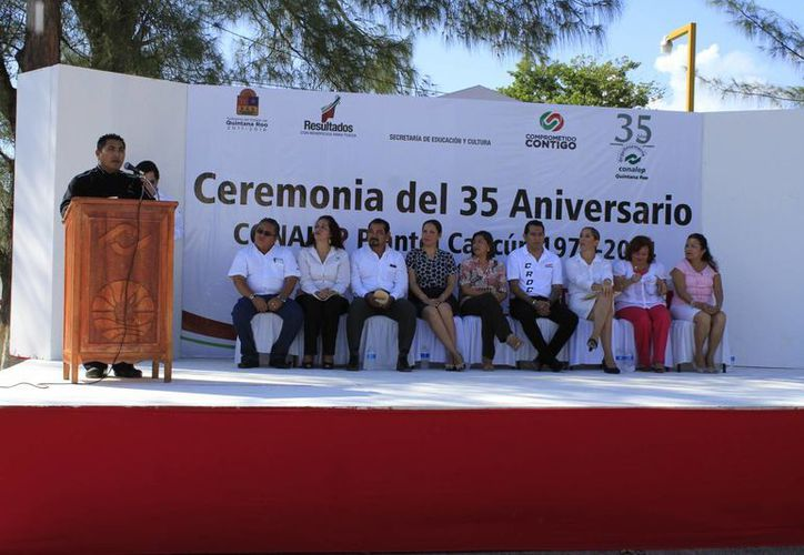Las actividades comenzaron con un homenaje. (Sergio Orozco/SIPSE)