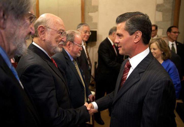 Peña Nieto durante la conmemoración de los 70 años de fundación de El Colegio Nacional. (presidencia.gob.mx)