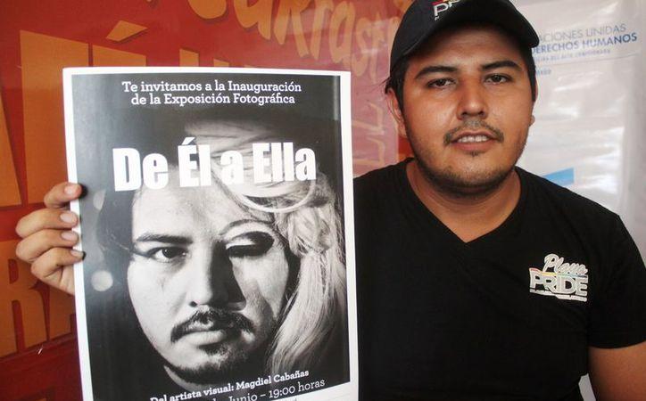 """Magdiel Cabañas Salazar expondrá su trabajo denominado """"De él a ella"""". (Octavio Martínez/SIPSE)"""