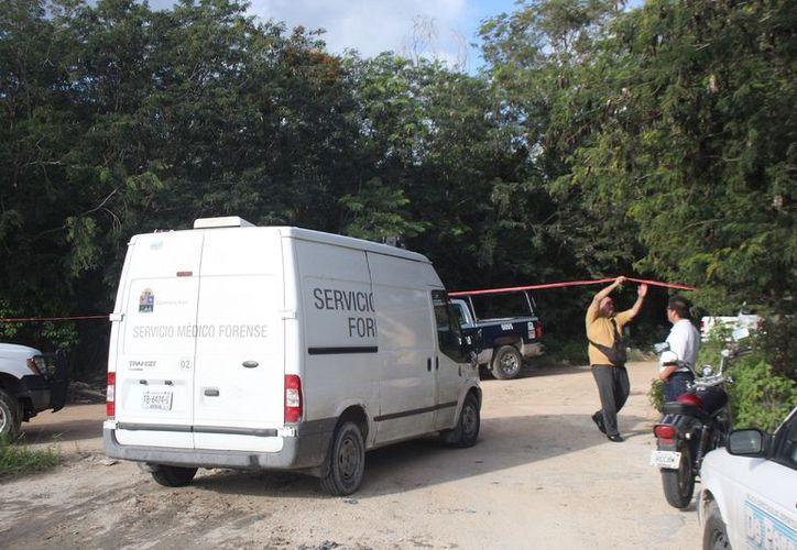 El acordonado se amplió poco más de 50 metros para que los agentes del Servicio Médico Forense (Semefo) realizaran el levantamiento del cadáver. (SIPSE)