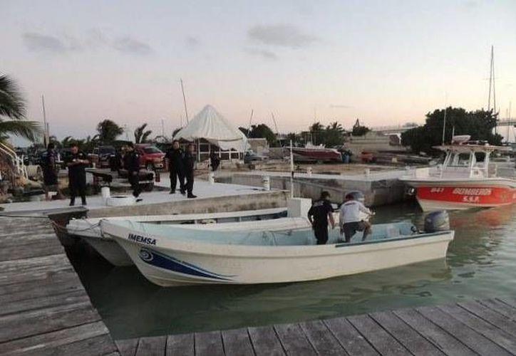 La lancha fue recuperada en el puerto de Yucalpetén. (SIPSE)