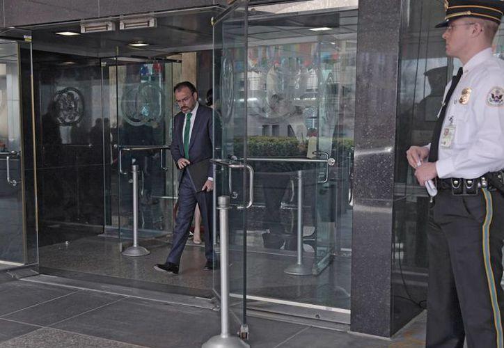 Videgaray anunció la visita de Rex Tillerson, secretario de Estado de EU, a México en las semanas próximas. (Notimex)