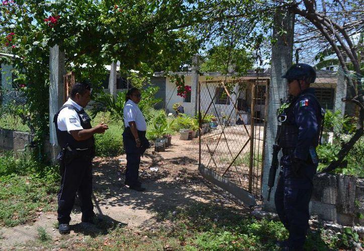 El reporte de una persona muerta provocó la movilización de Policías Municipales y Ministeriales. (Redacción/SIPSE)