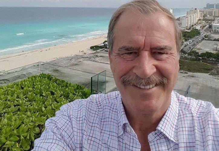 Vicente Fox disfrutó de las bellezas del Cancún y compartió fotografías a través de su cuenta de twitter. (Twitter/@VicenteFoxQue)