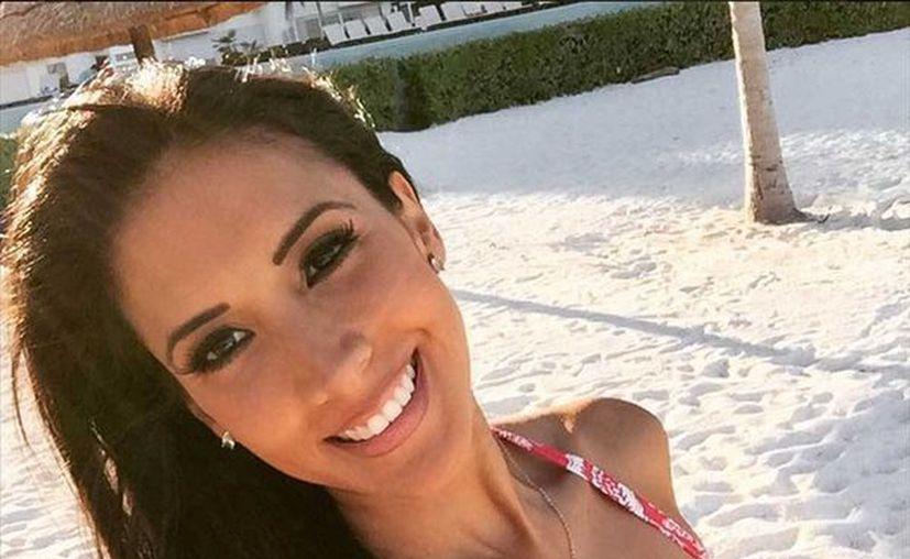 La conductora disfruta de sus días en Cancún. (@cynthia_uf/Instagram)