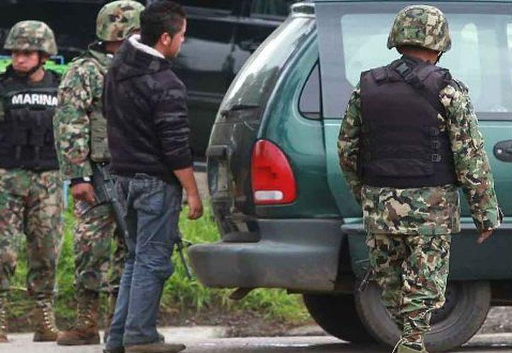 Marina detiene a 18 presuntos Zetas.  (Archivo Notimex)