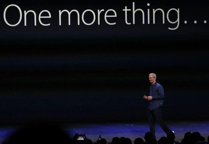 El consejero delegado de Apple, Tim Cook, durante un evento de lanzamiento en Cupertino, California. (Archivo/EFE)