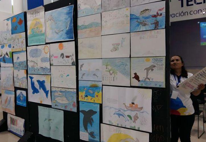 Los dibujos fueron presentados en el auditorio de la Universidad Tec Milenio Campus Cancún. (Faride Cetina/SIPSE)