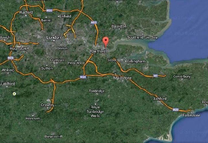 El hallazgo de los indios dentro de un contenedore de carga marítimo se dio en el puerto de Tilbury, Inglaterra. (Google Maps)