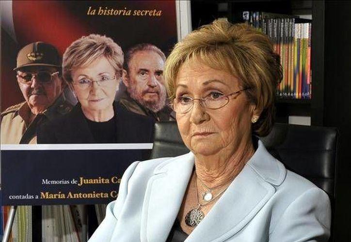 Juanita Castro, de 83 años de edad y exiliada en EU desde 1964 lamentó la muerte de su hermano Fidel pero descartó su presencia en sus funerales, en La Habana. (Foto: Cubanet.org)
