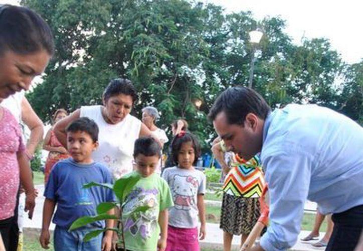 El diputado Mauricio Vila Dosal participa en acciones a favor del medio ambiente. (SIPSE)
