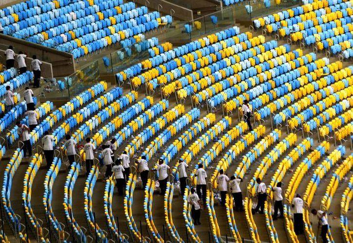 Vista de las graderías en el mítico estadio Maracaná, en Río de Janeiro, Brasil. (EFE)
