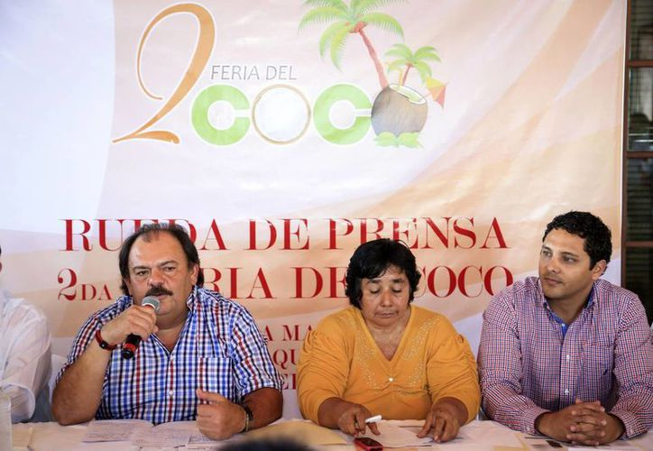 En rueda de prensa se dio a conocer que la segunda Feria del Coco se llevará a cabo el 31 de enero y 1 de febrero. (Harold Alcocer/SIPSE)