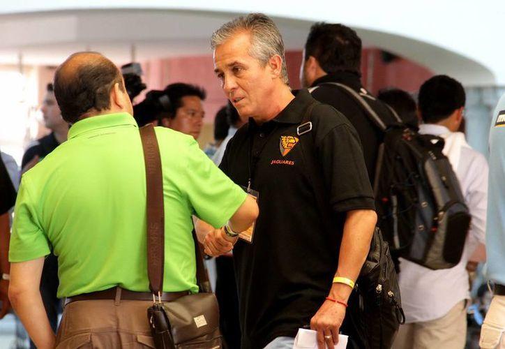Sergio Bueno se presentó en el Draft como el nuevo entrenador de Jaguares de Chiapas. (Notimex)
