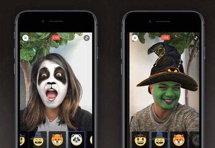 Lo nuevo de Facebook te permite disfrazarte para Halloween con tan sólo utilizar su función de Facebook Live. (Facebook)