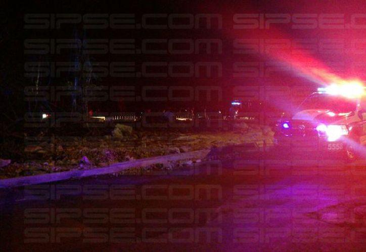 Un hombre perdió la vida luego de ser herido un arma de fuego, esta noche en la Supermanzana 248. (Redacción/SIPSE)