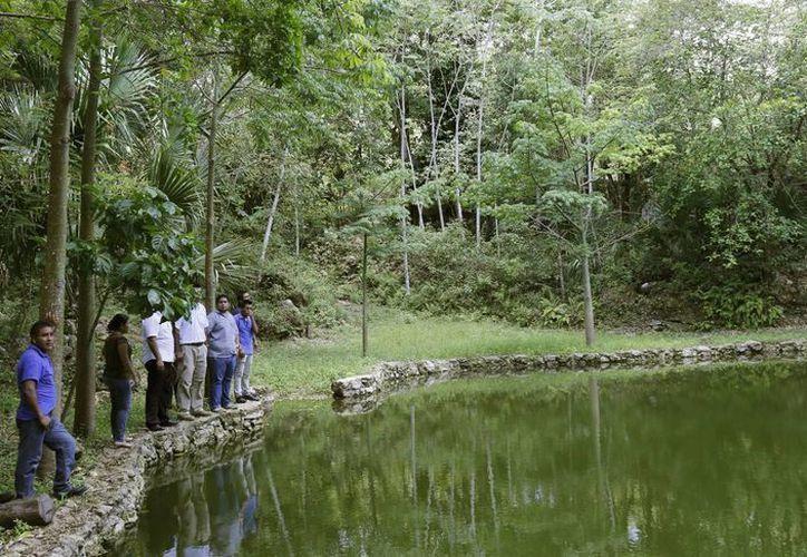 Las autoridades recorrieron los terrenos de la Reserva Toh. (Jesús Tijerina/SIPSE)
