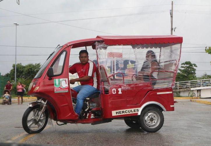 Los mototaxis están adscritos a los sindicato COR, CROC, Untrac y CTM. (Adrián Barreto/ SIPSE