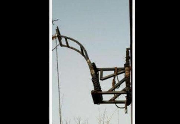 La catapulta fue asegurada por las autoridades mexicanas. (Milenio)