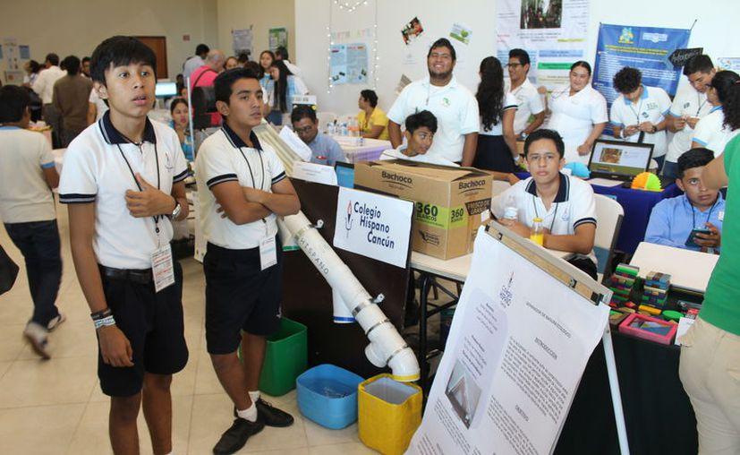 De loa 79 proyectos, uno fue presentado por un preescolar; siete por estudiantes de primaria; 16 por estudiantes de preparatoria; y 27 por jóvenes de nivel superior. (Joel Zamora/SIPSE)