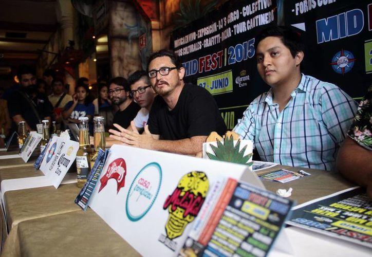 Imagen de la rueda de prensa donde se dieron a conocer los detalles del Mid Fest 2015. (Jorge Acosta/SIPSE)