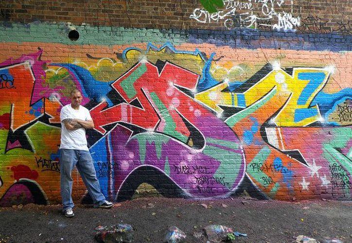 Jason Wulf comenzó a realizar pintadas en automóviles y en edificios en Nueva York en 1985. (ansa.it)