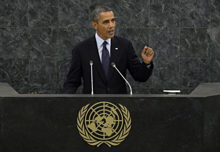 Obama durante su intervención en el debate general de la 68ª sesión de la Asamblea General de Naciones Unidas. (EFE)
