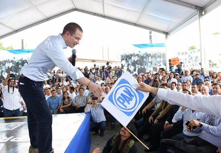 Ricardo Anaya se comprometió a mejorar la economía de Tamaulipas. (Notimex)