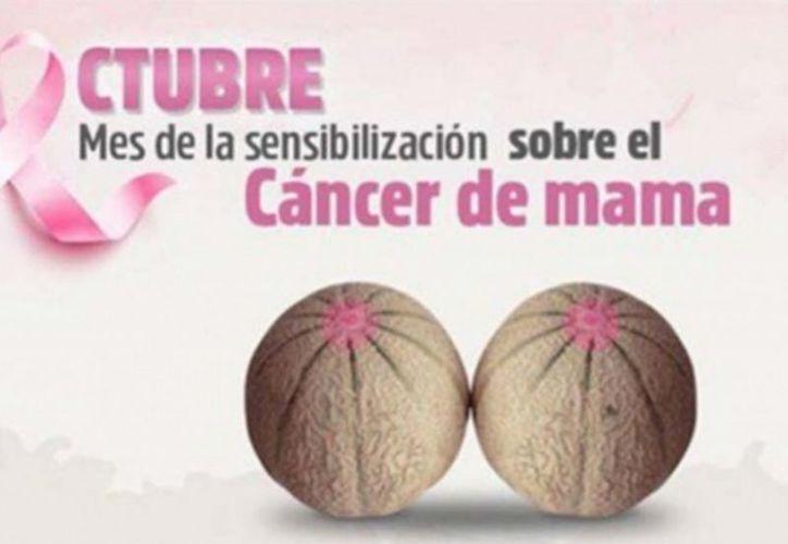 La campaña de prevención del cáncer de mama con la imagen de unos melones fue reprobada por la sociedad de Nuevo León. (Vanguardia)
