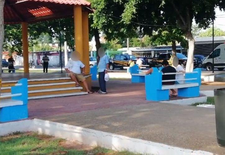 El hecho se presentó en el parque Amalia Solórzano. (Especial)