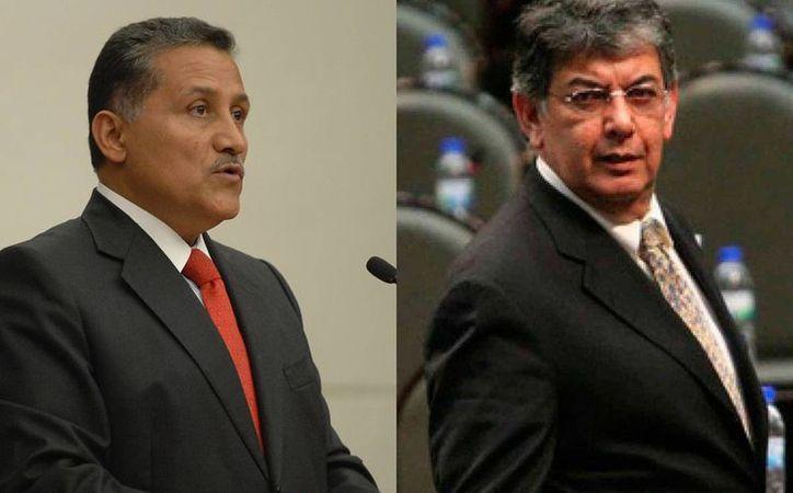 El senador Arturo Zamora Jiménez (izq) fue presidente municipal de Zapopan y José Murat fue gobernador de Oaxaca de 1998-2004 (der). Ambos recibieron hoy nuevos cargos dentro de la dirigencia nacional del PRI. (Archivo/Agencias)