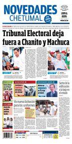 Tribunal Electoral deja fuera a Chanito y Machuca