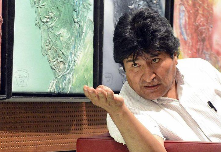 El presidente de Bolivia, Evo Morales, en una sala del aeropuerto de Viena el pasado 2 de julio. (Archivo/EFE)