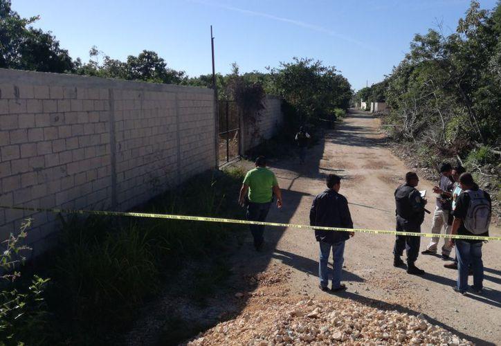Uno de los cuerpos fue encontrado sobre un camino de terracería. (Pedro Olive/SIPSE)