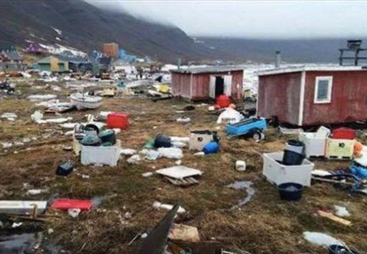 Un sismo provocó un tsumani en Groenlandia este fin de semana. (UnoTv)