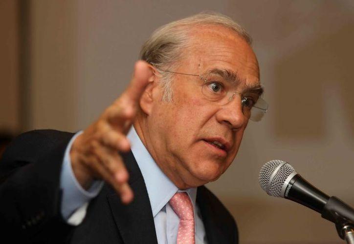 Gurría: es fundamental cambiar el régimen fiscal de Pemex para que deje de ser la principal fuente de impuestos del país. (Notimex)