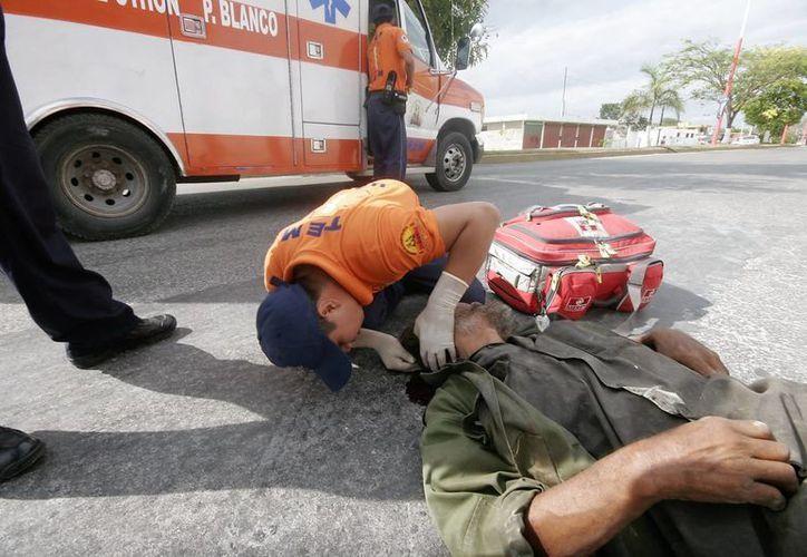De acuerdo con el único neurólogo que hay en Q. Roo, en 80% de los accidentes traumáticos muere alguien. (Carlos Horta/SIPSE)