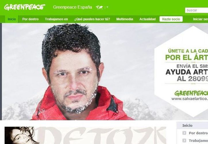 El cantante Alejandro Sanz participa en esta campaña. (Captura de pantalla)