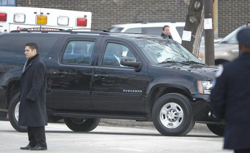 Michelle Obama a su llegada al servicio fúnebre de Hadiya Pendleton. (EFE)