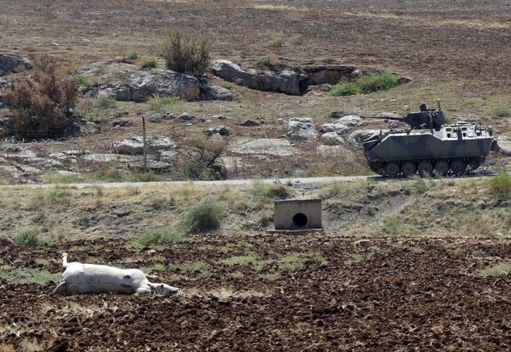 Soldados turcos patrullan en la frontera con Siria. (Agencias)