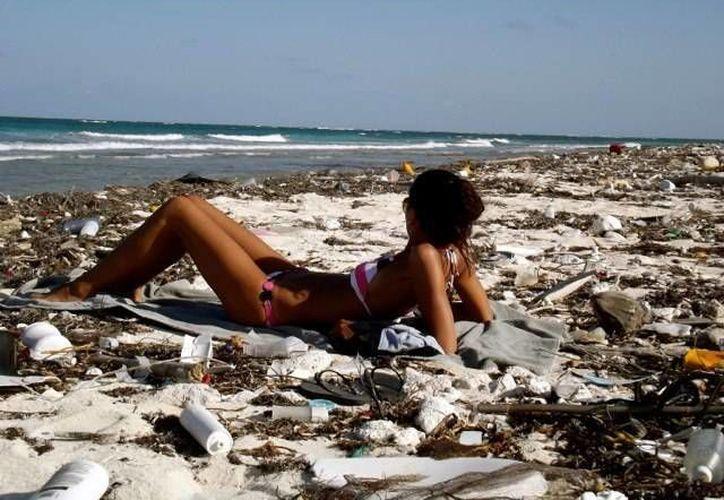 Hasta la fecha se lleva un avance de aproximadamente cinco kilómetros de playa. (Cortesía)