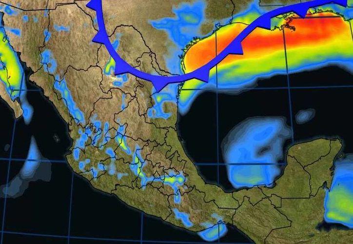 Se prevé, en la Península de Yucatán, cielo parcialmente nublado con lloviznas en Campeche y Quintana Roo. (Conagua)
